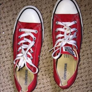 Red unisex all star converse